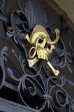 Golden skull. At Kuks hospital , Nachod,  in Czech Republic Royalty Free Stock Photo