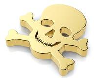 Golden skull symbol Stock Photos