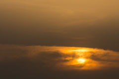 Golden sky with clouds Royalty Free Stock Photo