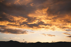 Golden Sky. Golden on sky after sunset royalty free stock photography