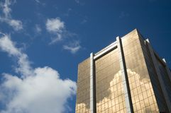 Golden skyscraper - symbol of financial success stock photos