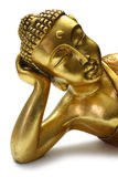 Golden sleeping Buddha Royalty Free Stock Images