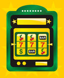 Golden slot machine Royalty Free Stock Photo