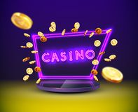 Free Golden Slot Machine Wins The Jackpot Stock Images - 165640124