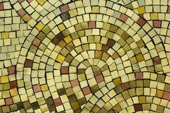 Golden smalt on the mosaic panel stock image