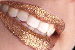 Golden smile Stock Images