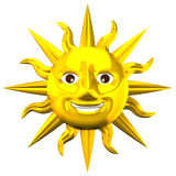 Golden Smiling Sun Stock Images
