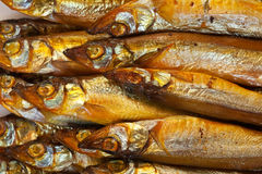 Golden smoke-dried  fish Royalty Free Stock Photo