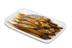 Golden  smoke-dried  fish Stock Photos