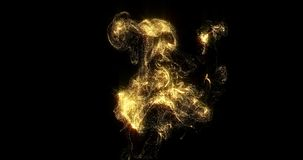Free Golden Smoke, Shining Golden Fluid Particles, Liquid Glitter Light Pour On Black Background. Sparkling Gold, Glittering Shimmer Royalty Free Stock Photo - 167132195