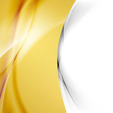 Golden smooth swoosh wave abstract border. Bright modern folder cover. Vector illustration Stock Photo