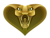 Golden snake head Stock Images