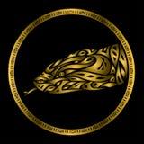 Golden snake symbol. Vector illustration of golden snake Stock Photos