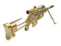 Golden sniper rifle detailed illustration Stock Photography