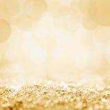 Golden snow and bokeh Stock Photo