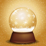 Golden snow globe Royalty Free Stock Images