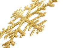 Golden snowflake Royalty Free Stock Image