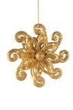 Golden snowflake Royalty Free Stock Photos