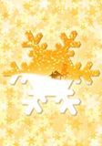 Golden snowflake Stock Photos
