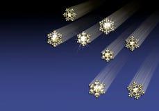 Golden snowflake border Stock Photos