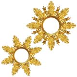 Golden snowflake Royalty Free Stock Images