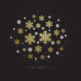 Golden snowflake on a dark background Royalty Free Stock Photo