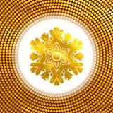 Golden snowflake. 10 eps Stock Image