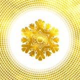 Golden snowflake. 10 eps Royalty Free Stock Photos