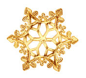 Golden snowflake. Royalty Free Stock Images