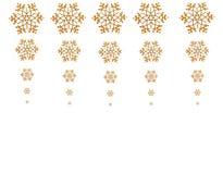Golden snowflakes Stock Image
