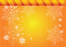 Golden snowflakes Royalty Free Stock Photo
