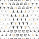 Golden snowflakes on white background. Merry Christmas holiday and Happy New Year celebration. Season abstract seamless Stock Photography