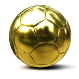 Golden soccer ball. Isolated on white background Stock Photo