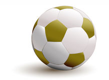 Golden soccer ball Stock Photography