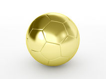 Golden soccer ball. Isolated on white background Royalty Free Stock Photos