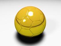 Golden soccer ball. 3D model of a golden soccer ball royalty free illustration