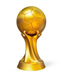 Golden soccer ball award prize  Royalty Free Stock Images
