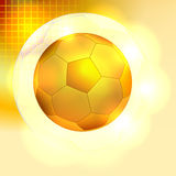 Golden soccer ball background Royalty Free Stock Photos