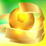 Golden soccer ball. Background. Design element royalty free illustration