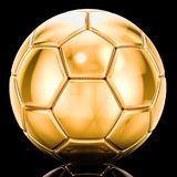 Golden soccer ball on black background. 3D rendering. Golden soccer ball on black background. 3D Stock Photo