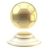 Golden soccer ball champion goblet Stock Photo