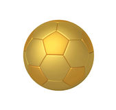 Golden soccer ball with clipping path Stock Photography
