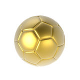 Golden soccer ball Royalty Free Stock Photography