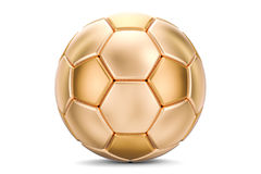 Golden soccer ball, 3D rendering. On white background Stock Image