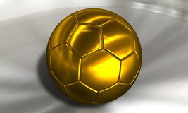 Golden Soccer ball football Stock Photography
