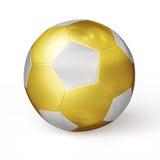 Golden soccer ball isolated Stock Photo