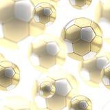 Golden soccer ball seamless background Stock Image