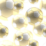 Golden soccer ball seamless background Royalty Free Stock Photos