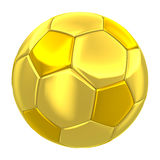 Golden soccer ball isolated Stock Photo