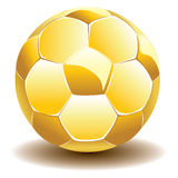 Golden Soccer Ball Royalty Free Stock Photo